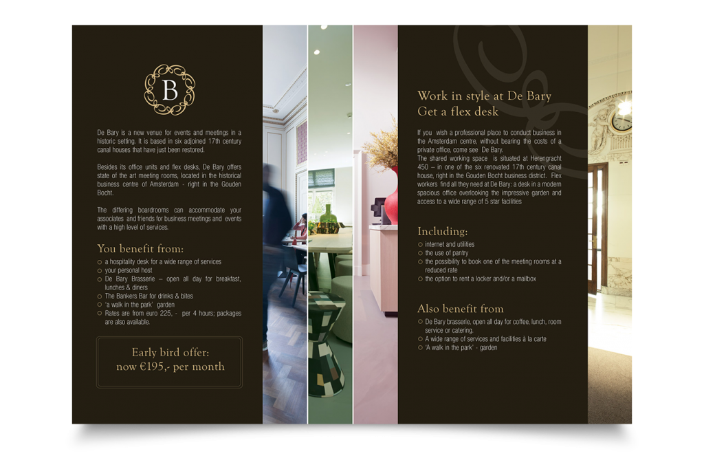 Brochure design De Bary