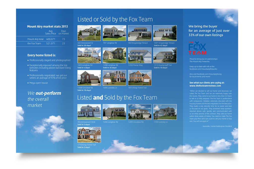 Brochure ontwerp The Fox Team