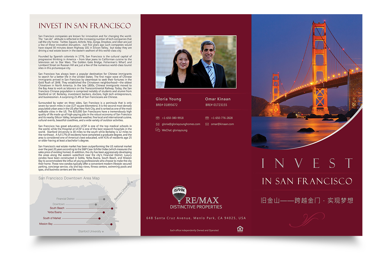 Brochure ontwerp Invest In San Fransisco