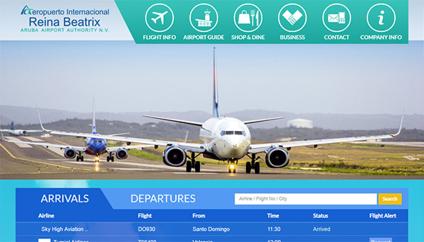 Web design Reina Beatrix Airport
