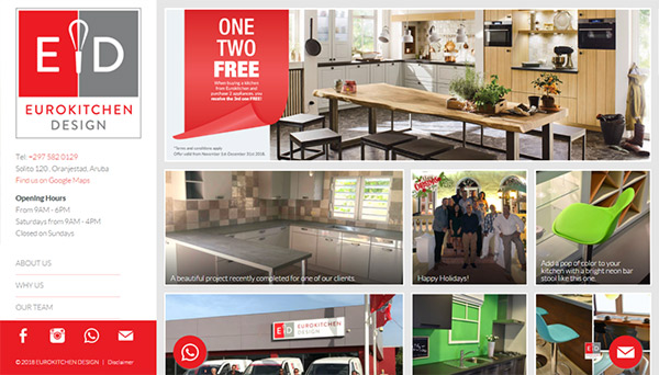 Web design Eurokitchen