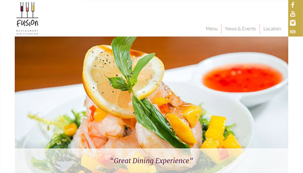 Web design Fusion Restaurant