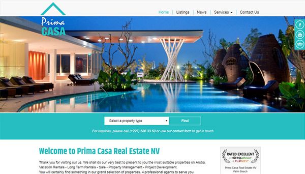 Web design for Prima Casa