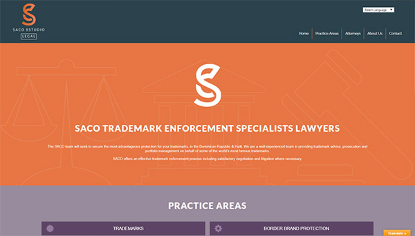 Web design & development for Saco Estudio